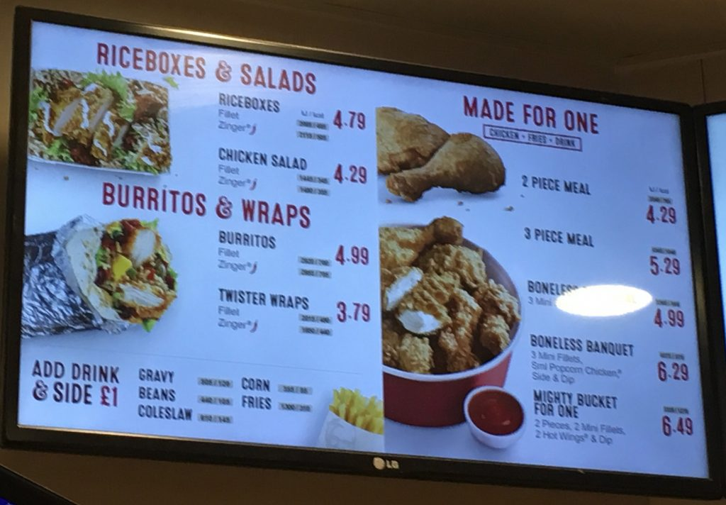 ✅ kfc menu prices uk - price list 2018 (updated)