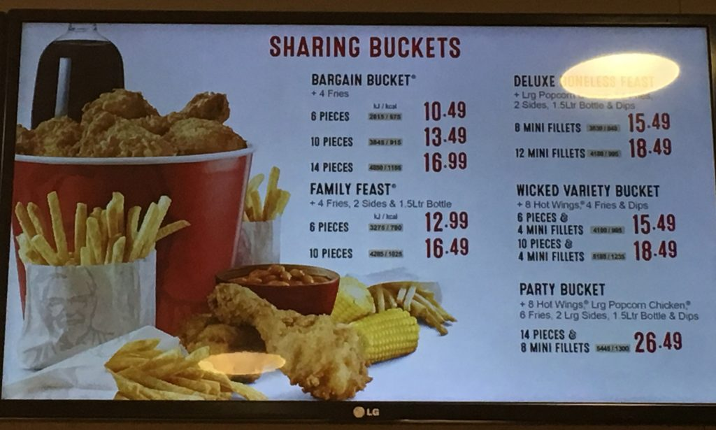 Kfc Menu Prices Uk Price List 2019 Updated